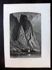 Picturesque Europe C1875 Antique Print. Cliffs in the Defile of Kazan, Russia